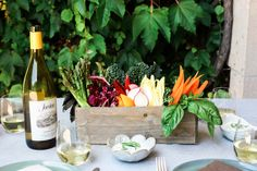A healthy, fresh appetizer recipe for end of summer parties that doubles as decor.