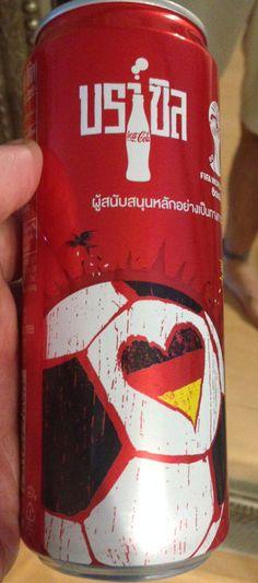 Coke THAILAND FIFA World Cup 2014 Coca Cola GERMANY football slim can SEALED     eBay