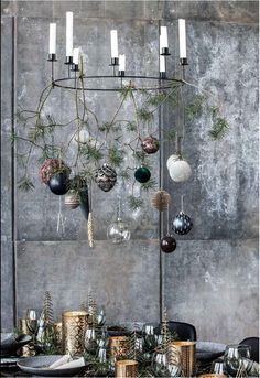 1782 Fotos de Navidad - Pagina 14 Bohemian Christmas, Scandi Christmas, Modern Christmas Decor, Christmas And New Year, Christmas Themes, Christmas Holidays, White Christmas, House Doctor, Feuille Eucalyptus