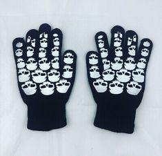 Black Skull Knit Gloves Bones Goth Punk Emo Metal Halloween Horror Unisex Winter  | eBay Black Goth, Black Skulls, Victorian Gothic, Gothic Lolita, Fisherman's Hat, Gothic Accessories, Halloween Horror, Knitted Gloves, Emo Fashion