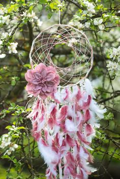 Large dream catcher Large Pink dream catcher by MysteriousForests