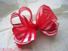 Christmas Stripe Bow - {The Ribbon Retreat Blog}