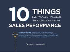 10 Things every Sales Manager Should Know about Sales Performance by The TAS Group via slideshare