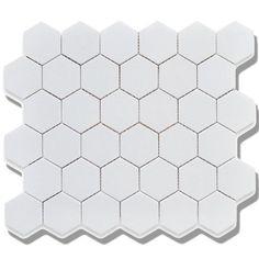 Roca Tile 2X2 Hexagon White Matte Mosaic