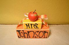 Teacher Appreciation Wood Block Name Shelf Sitter