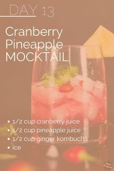 Day13 30Day No Alcohol Challenge. Cheers to the week-end! Hope you like this mocktail recipe :)