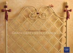 Letto Graticcio Fiocchi e Farfalla. Nella foto: testata letto singolo. GBS Firenze. All rights reserved. gbsfirenze.com