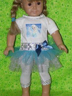 Disney FRoZen outfit for American Girl 2 by KikiDawnKreations, $13.00 on Etsy.com