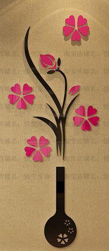 3D Wall Sticker Flower Home Decor Wall Art Wedding Bedroom Home Decoration Accessories Adesivo De Parede
