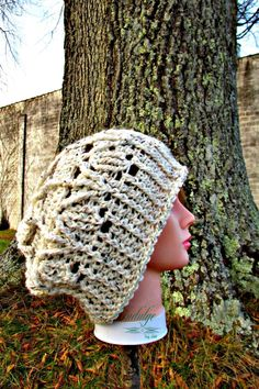 It's time for The 12 Months Of Slouchy Hats! This month you will the May Flower Slouchy Hat from my designer friend Becky from Grammy's Creations! May Flowers Slouchy Hat Materials Mary Maxim Natural Alpaca Tweed yarn, Raw Cotton size L, 8.0mm crochet hook Notes ch1 at the beginning of a round DOES NOT count as a st. This design uses a joined ring at the crown, So often the
