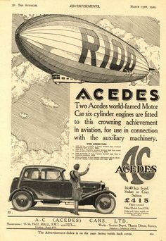 Ad for AC Cars (1929)