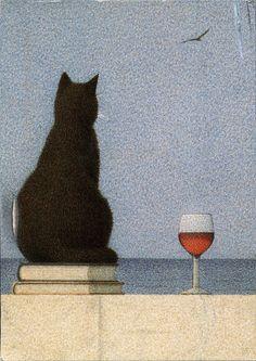 """Katze am Meer"" by Quint Buchholz."
