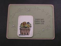 Stampin' Kat: Sunflower Basket of Wishes