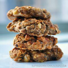 healthy chai spiced banana oat cookies