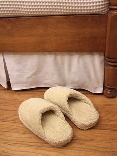 DIY spa slippers made from old flip flops and a bath towel!