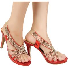 Toko Online Fashion Wanita-Sepatu High Heels Rowena Embellished Merah http://www.slightshop.com/produk/sepatu-high-heels-rowena-embellished-merah/