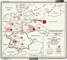 Vintage infographic Germany: Textile and Apparel Industries (1944)