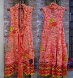 Oh, das mag ich!  Kleid - sehr großzügig und bequem gestrickt.   -----  Oh, I love it!  Dress - knitted very lavish and comfortable  ---  gefunden auf  ...   https://www.facebook.com/Warawa.Urbana/photos/pb.211254968889654.-2207520000.1435043907./1094060823942393/?type=1&theater
