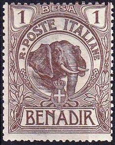 Somalia 1903. insolito, el emblema en el sello es genoves.