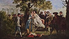 The wrestling scene from As You Like It, Francis Hayman, c. 1750