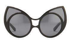 Khaleda Rajab + Fahad Almarzouq black cateye sunglasses KR1C1 | sunglasscurator.com