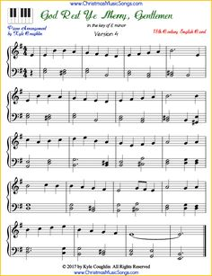 Free printable PDFs of five different arrangements of God Rest Ye Merry, Gentlemen for piano, sheet music for beginner to advanced pianists. Christmas Piano Sheet Music, Easy Piano Sheet Music, Violin Sheet Music, Music Music, Free Piano Lessons, Music Lessons, Christmas Songs Lyrics, Trumpet Music, Music Lesson Plans