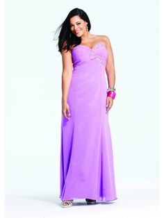 Trumpet Sweetheart Beaded Floor Length / Long Chiffon Plus Size Prom / Evening / Formal / Party Dresses 2401040