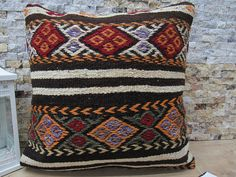 Welcome to my shop ZDKilimsPillow All my kilim pillows in my Collections are made from vintage kilims they have been wash and ready to use, PAYMENT ACCEPT WİTH PAY PAL AND YOU CAN PAY WİTH ALL OF YOUR CREDİT CARD,OVER PAY PAL. # Size is 20 inches x 20 inches which is 50 cm x 50 cm #