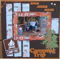 Camping Trip - Scrapbook.com - #scrapbooking #layout #sizzix