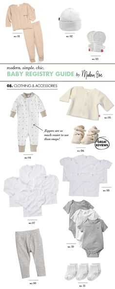 Baby Registry Guide: Clothing & Accessories - Modern Eve