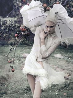 Editorial detail of 'Fairy Time' by Tim Walker for Vogue Italia - FAIRY TALE FASHION IS IN!