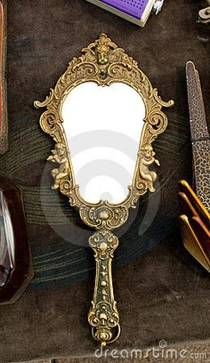 hand held mirrors vintage | Vintage hand-held mirror by Viktorfischer, via ... | Vintage finds an ...