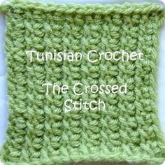 Tunisian Crochet Crossed Stitch