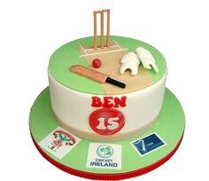 Cricket Birthday Cake, Cricket Theme Cake, Birthday Cakes, Birthday Ideas, Fab Cakes, Sport Cakes, Fondant, Great British Bake Off, Cakes For Men