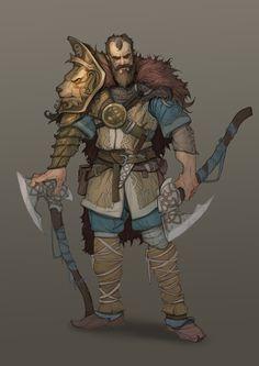 For fun. Line + color + little render Fantasy Character Design, Character Design Inspiration, Character Concept, Character Art, Concept Art, Epic Characters, Fantasy Characters, Fantasy Races, Fantasy Art