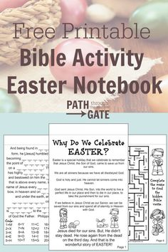 Filled with Bible verse activitiesthe My Easter Notebook is a great way to discuss the true meaning of Easter with yourelementary-aged kids.