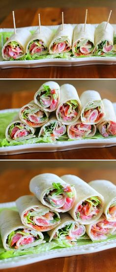MINI BLT WRAPS-Make them with low carb tortillas and you are foods to go