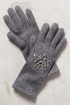 Bejeweled Gloves #anthrofave #anthropologie