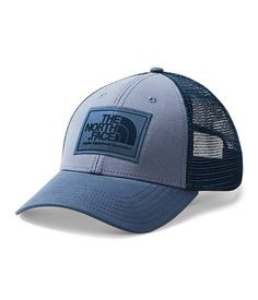The Mudder Trucker is a versatile, trucker-style cap that comes in a classic fit and a variety of high-contrast colors to keep you looking good and your helmet-hair under control. Baseball Cap Rack, White Baseball Cap, Baseball Cap Outfit Summer, Helmet Hair, Coral Blue, Hiking Gear, Caps Hats, The North Face, Ball Caps