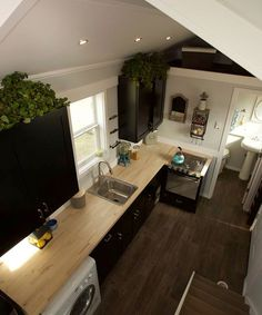 Titan Tiny Homes used bamboo flooring through the Notarosa, including the main floor, stair treads, and lofts.