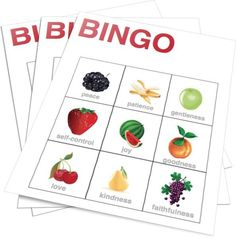 Teach Kids the Fruits of the Spirit With This Fun Bingo Game. Perfect for: -Children's Church -Sunday School -Homeschool -Christian Education