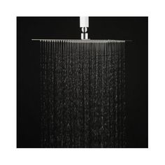 Square Rain Shower Head Bath 12 in High Pressure Ultra Thin 304 Stainless Steel