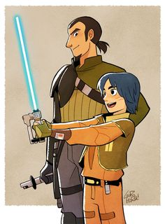 "gurihiru: ""  Star Wars Rebels Kanan & Ezra """