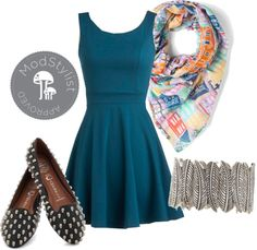 """""""Brunch Party Dress"""" by modcloth ❤ liked on Polyvore"""