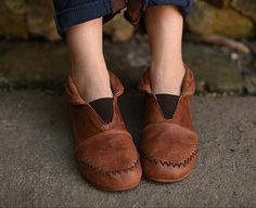New! Handmade Brown Shoes,Ankle Boots,Flat Shoes, Retro Leather Shoes, Oxford Shoes, Short Booties, Slip Ons