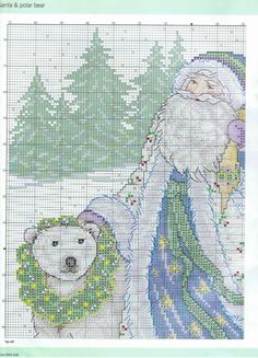 Santa & Polar Bear (Pg 2 of 4)  Clicking on the link will give the rest of the pattern