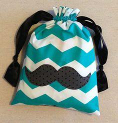 gymnastics grip bags personalized | Item(M3) Personalized iPad or Gymnastics Grip Bag Mustache Teal ...