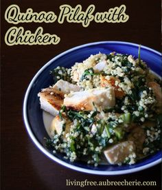 Living Free | Quinoa Pilaf with Chicken (GF, DF, SF)