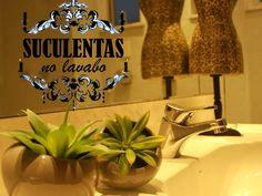 Suculentas artificiais EuQueDecoro: pode procurar! Bonitas, estilosas e entregues em qualquer lugar do Brasil? Só nós temos! Vem conferir!
