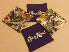 Crown Royal and Camo Reversible Coasters Set of by LuluBelleQuilts